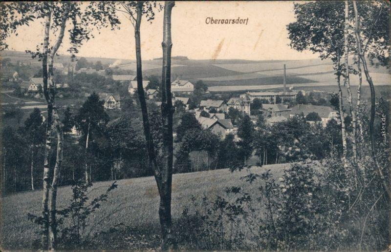 Ansichtskarte Karsdorf (ehemals Wendisch-Carsdorf)-Rabenau Obercarsdorf 1914