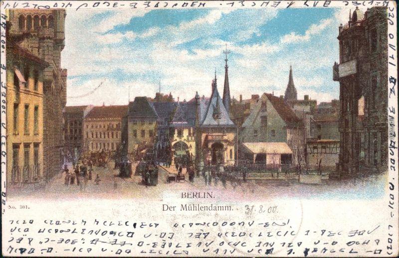 Ansichtskarte Berlin Mühlendamm - Künstlerkarte 1900