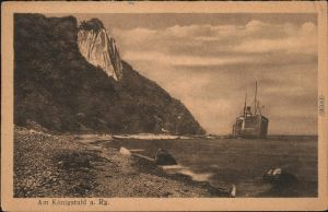 Ansichtskarte Stubbenkammer-Sassnitz Saßnitz Königsstuhl - Dampfer 1926