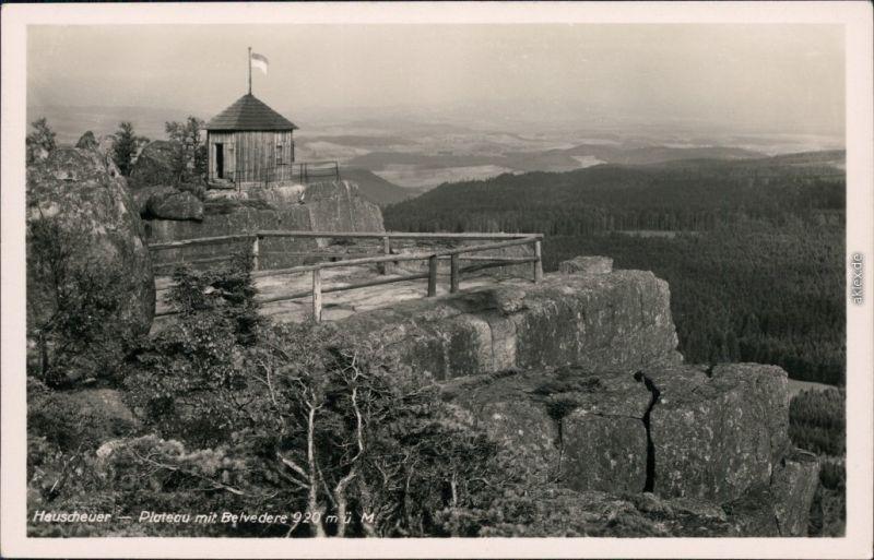 Ansichtskarte Karlsberg Karłów Heuscheuer 1932