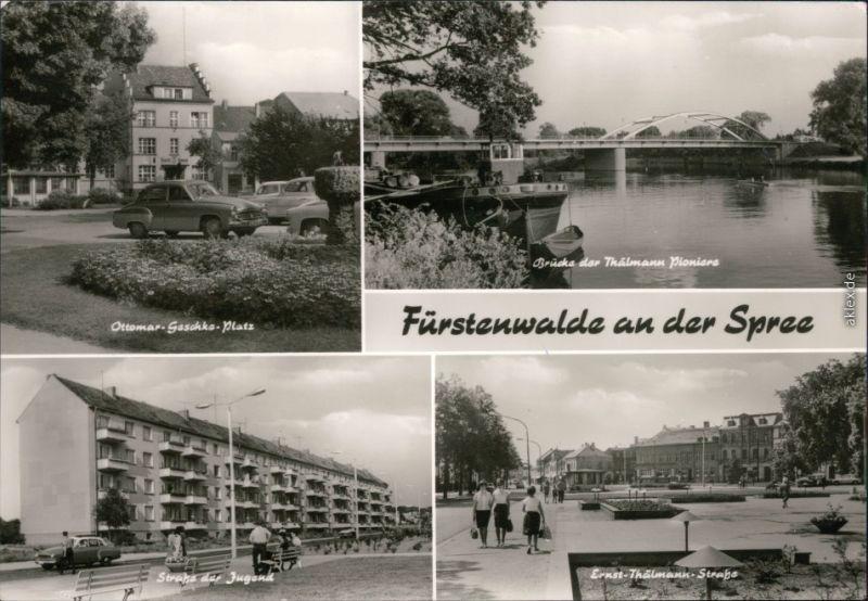 Fürstenwalde  Thälmann Pioniere, Straße der Jugend, Ernst-Thälmann-Straße 1977