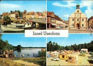 Wolgast Am Hafen, Wolgast - Rathaus, Am Kölpinsee, Zempin - Campingplatz g1977