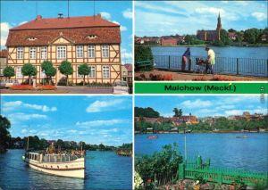 Malchow (Mecklenburg) Rathaus, Malchow See und Kloster Malchow, Dampfer 1980