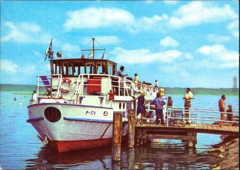 Ansichtskarte Klink (Müritz) FDGB-Ferienobjekt MS Fontane 1979