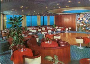 Ansichtskarte Warnemünde-Rostock Hotel Neptun - Sky-Bar 1982