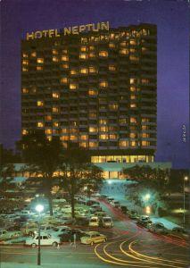 Ansichtskarte Warnemünde-Rostock Hotel Neptun - in der Nacht 1979