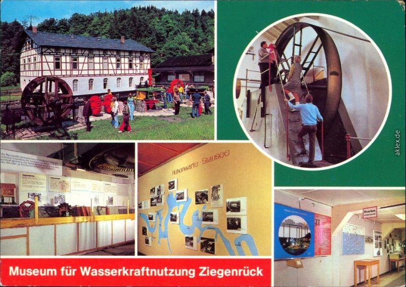Ziegenrück Saale Museum für Wasserkraftnutzung - Außen- und Innenansicht 1980