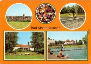 Bad Klosterlausnitz  Kurpark, Sanatorium Dr. Friedrich Wolf, Freibad 1984