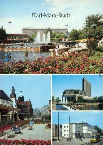 Chemnitz Karl-Marx-Stadt Karl-Marx-Platz, Rosenhof, Stadthalle  1988