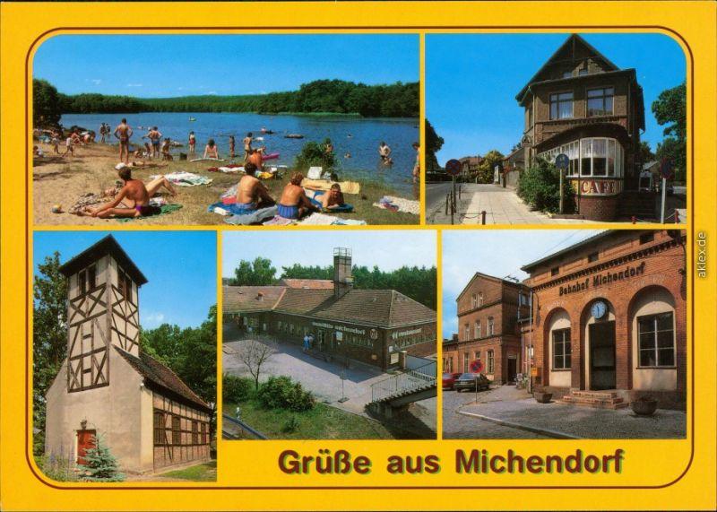 Michendorf Lienewitzsee, Café am Kreuzpunkt Raststätte Michendorf, Bahnhof 1995