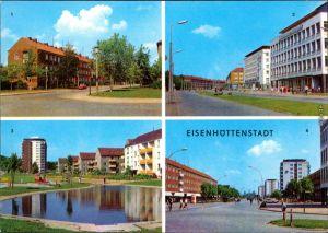 Eisenhüttenstadt Straße des Komsomol  Arbeiterwohnhotel   Diehloer Straße 1973
