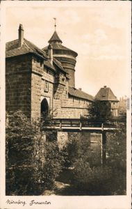 Ansichtskarte Nürnberg Partie am Frauentor 1941