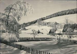 Ansichtskarte Tellerhäuser-Breitenbrunn (Erzgebirge) Wintersportplatz 1966