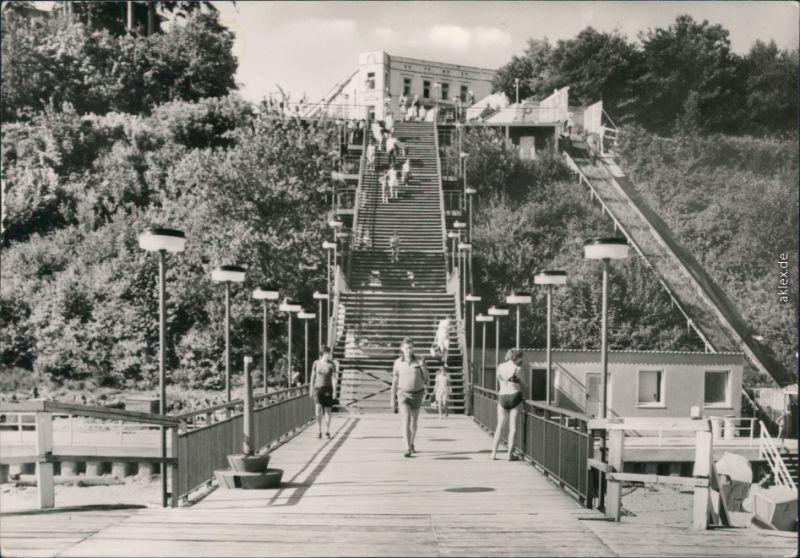 Ansichtskarte Ansichtskarte Sellin Treppe zum Strand 1979