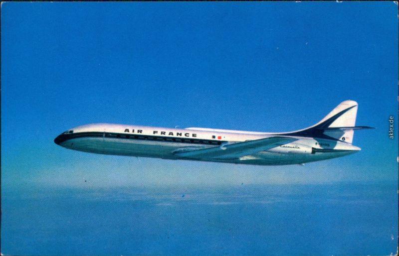Ansichtskarte  Air France - in der Luft 1988