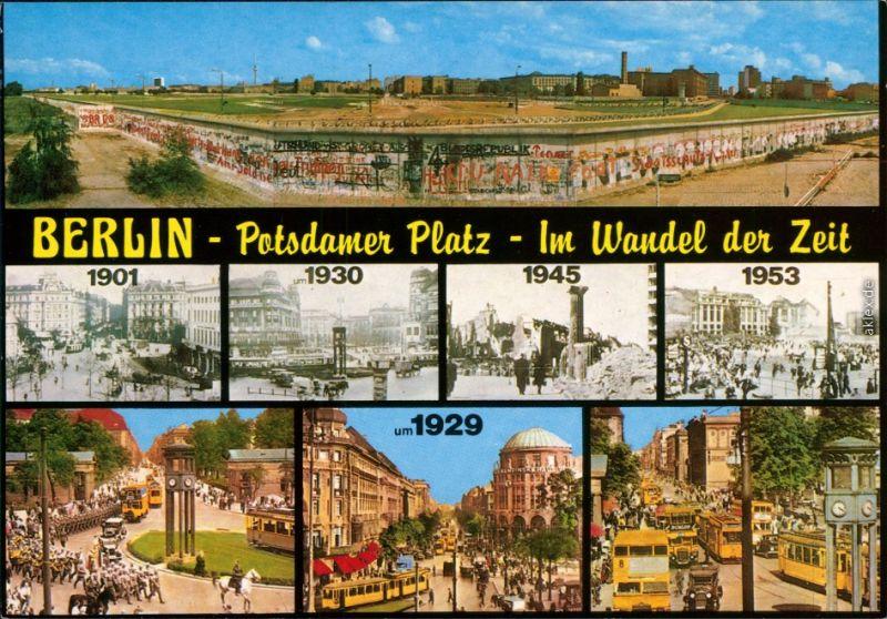 Ansichtskarte Tiergarten-Berlin Potsdamer Platz im Zeitraffer 1998