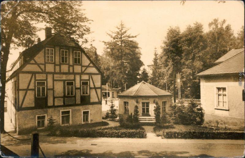 Ansichtskarte Warmbad-Wolkenstein Wismut-Sanatorium - Badehaus und Quelle 1959