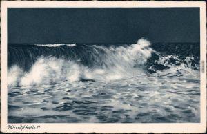 Ansichtskarte Henkenhagen Ustronie Morskie Windstärke 11 b Kolberg 1932