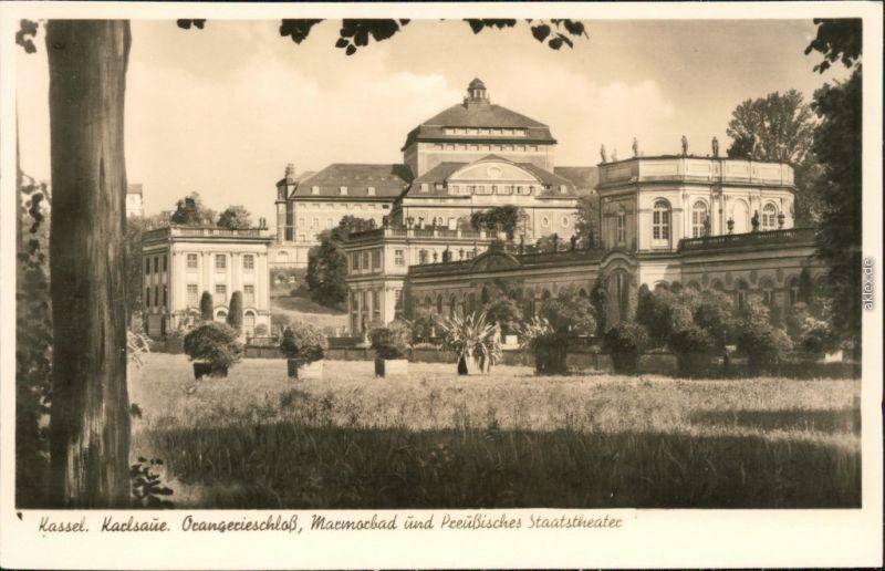 Kassel Cassel Orangerie-Schloss, Marmorbad, preuß. Staatstheater 1932