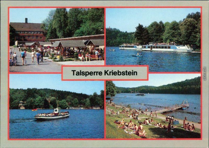 Lauenhain Mittweida Talsperre  OH-Gaststätte Talsperre Kriebstein,   1988
