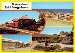 Kühlungsborn Bahnhof FDGB-Ferienheimes Ernst Grube, Konzertgarten Ost c1986