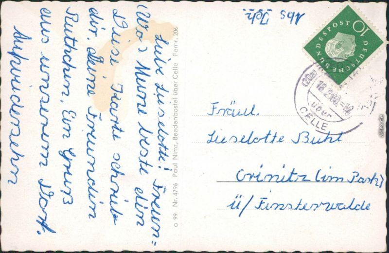 Beedenbostel Kirche, Wassermühle, Löns-Denkmal in Müden, Ortsmotiv 1960 1