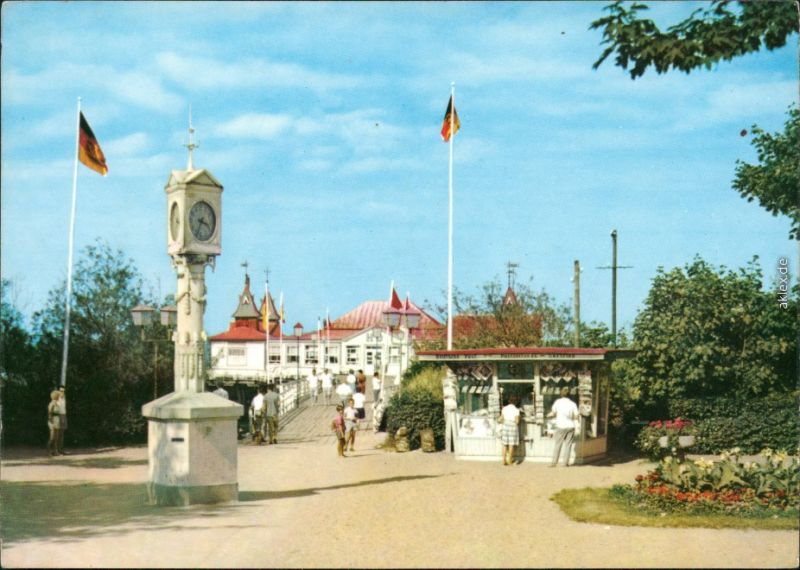 Ansichtskarte Ahlbeck (Usedom) Seebrücke 1970