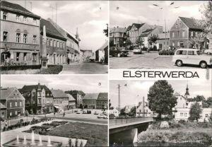 Elsterwerda Postmeilensäule in der Hauptstraße, Marktplatz, An der Elster g1979