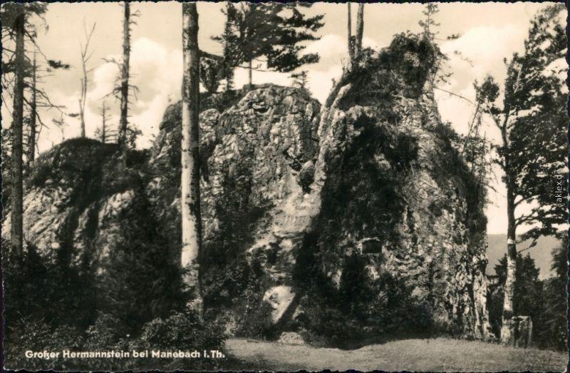 Ansichtskarte Manebach-Ilmenau Großer Hammerstein 1957