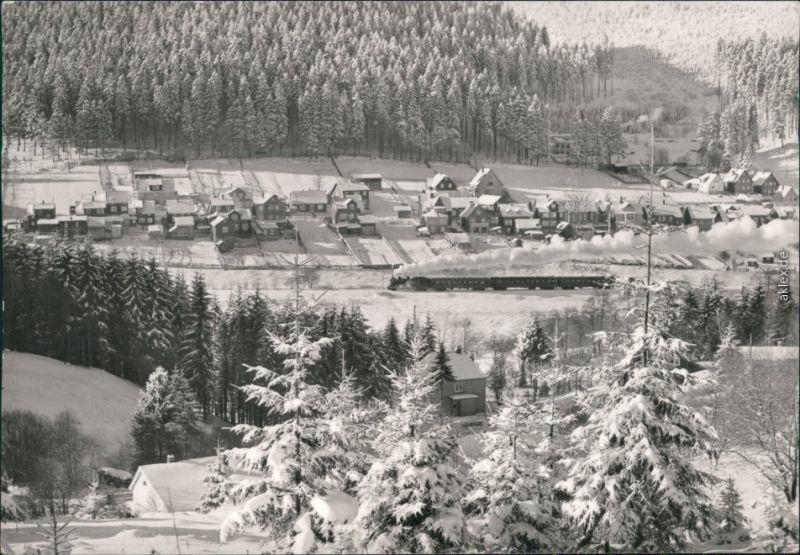 Ansichtskarte Manebach-Ilmenau Panorama-Ansicht im Winter 1975
