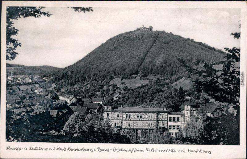 Ansichtskarte Bad Lauterberg im Harz St. Benno Stift und Hausberg 1938