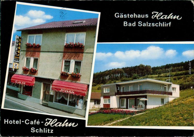 ak schlitz hotel pension hahn bad salzschlirf g stehaus hahn nr 7921210 oldthing. Black Bedroom Furniture Sets. Home Design Ideas