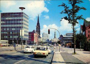Ansichtskarte Altstadt-Hamburg Willy-Brandt-Straße (Ost-West-Straße) 1982