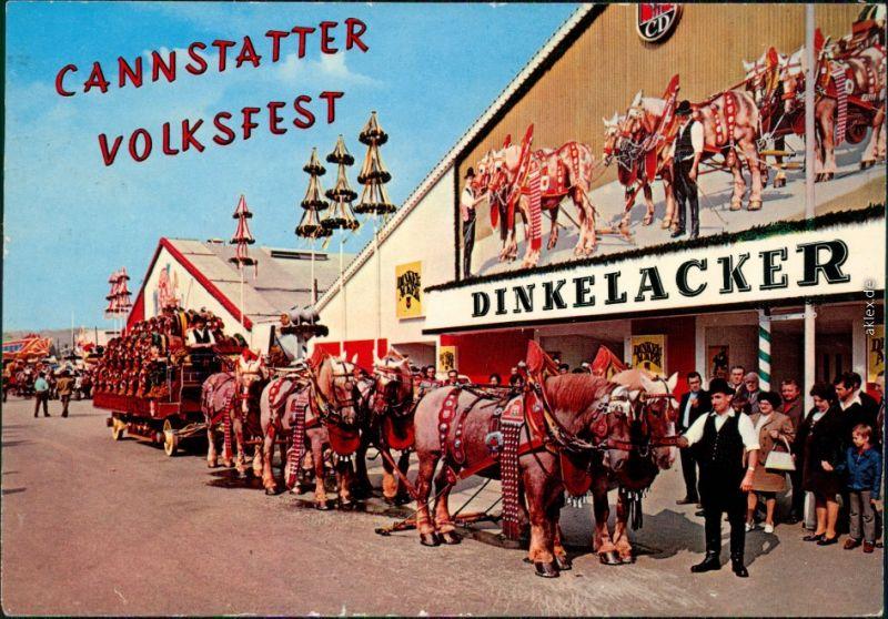 Ansichtskarte Cannstatt-Stuttgart Cannstatter Volksfest 1972