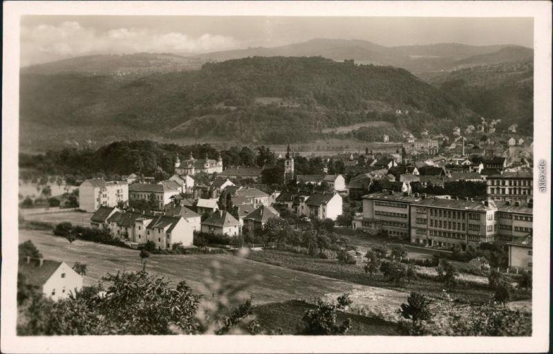 Schönpriesen Aussig Krásné Březno Ústí nad Labem ( Panorama-Ansicht 1958