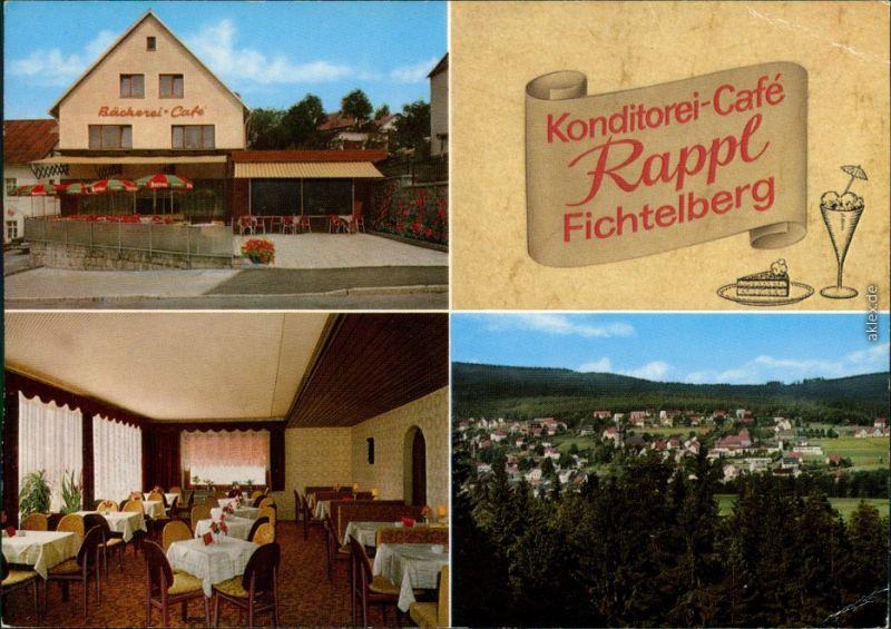 Fichtelberg (Oberfranken) Konditorei-Café Rappl Fichtelberg 1979