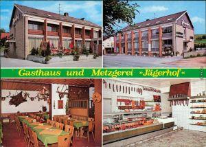 Ansichtskarte Weibersbrunn Gasthaus und Metzgerei Jägerhof 1976
