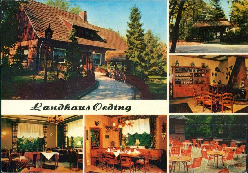 Ansichtskarte Greven Landhaus Oeding:Innen und außen 1978