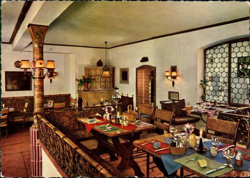 Ansichtskarte Deidesheim Gastraum - Gasthaus zur Kanne 1974