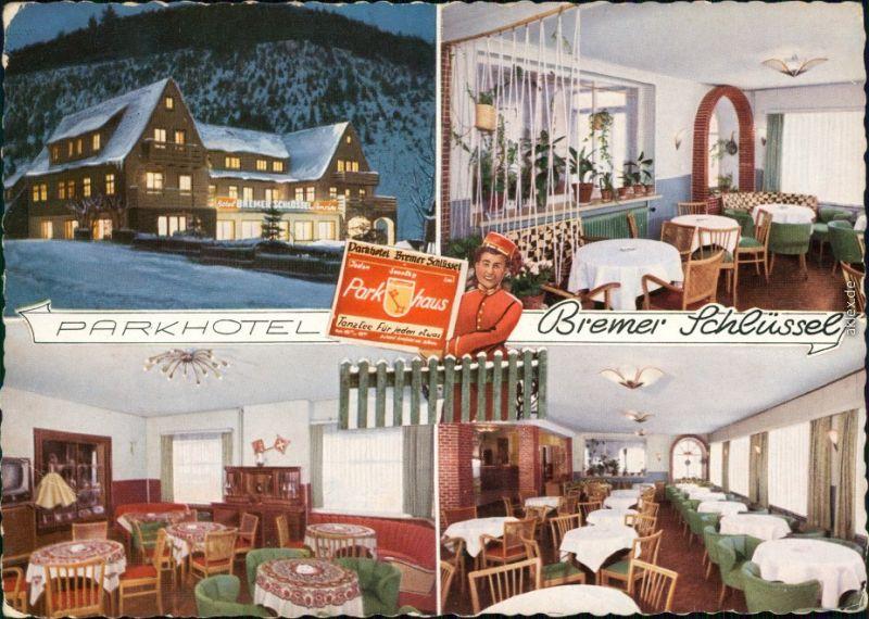 Wildemann (Innerstetal) Parkhotel Bremer Schlüssel - 4 Bild Innen und außen 1958 0