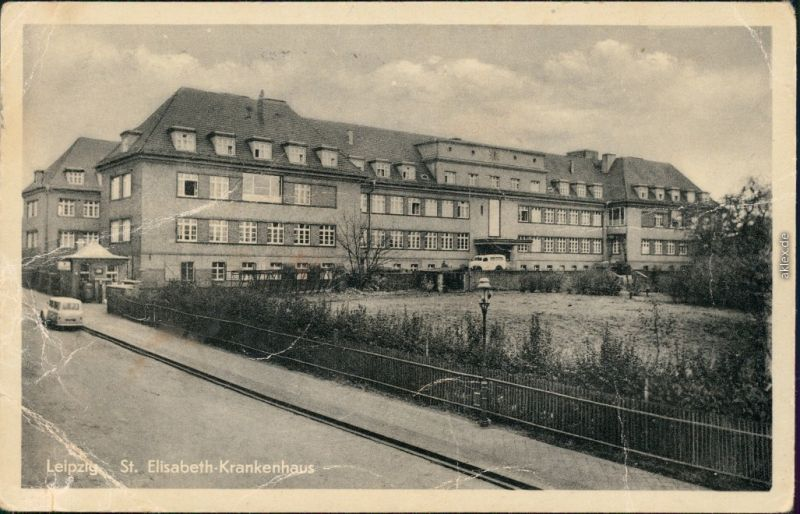 Ansichtskarte Leipzig Elisabeth-Krankenhaus 1955