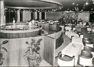 Ansichtskarte Warnemünde-Rostock Hotel Neptun - Sky Bar 1980