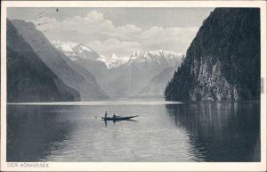 Ansichtskarte Schönau am Königssee Königssee: Malerwinkel Ruderboot 1940