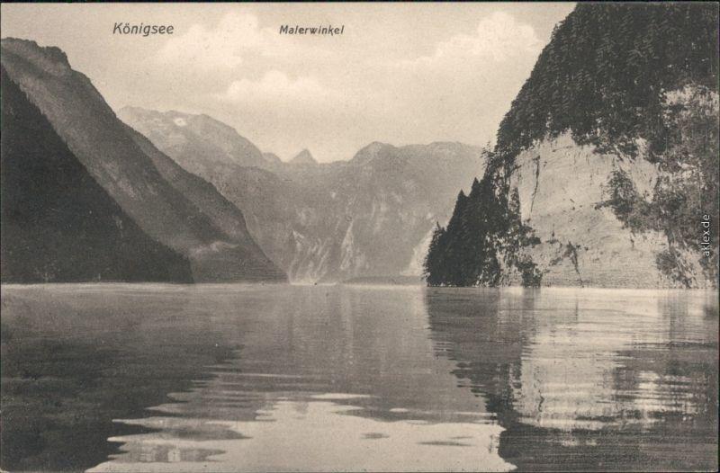 Ansichtskarte Schönau am Königssee Königssee: Malerwinkel 1914