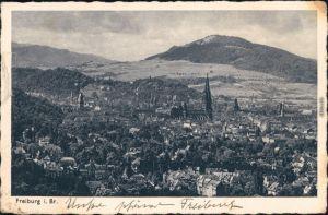 Ansichtskarte Freiburg im Breisgau Panorama-Ansicht 1942