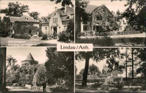 Lindau (Anhalt)-Zerbst DFGB Diät-Sanatorium: Gästehaus, Verwaltung, Burg 1966