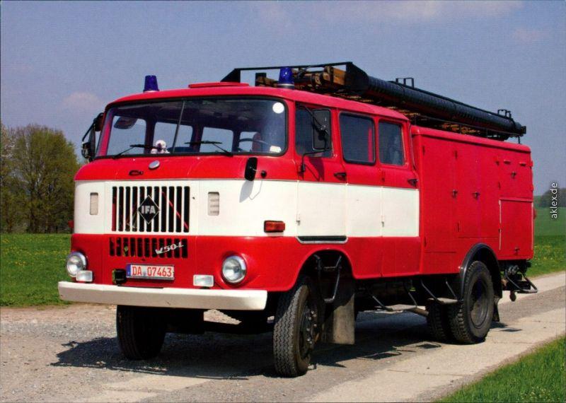 Ansichtskarte  Feuerwehr TLF 16/TS 8, W50 1995