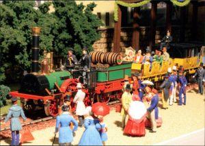 Ansichtskarte  Modelleisenbahn - als die Eisenbahn Deutschland eroberte 1999