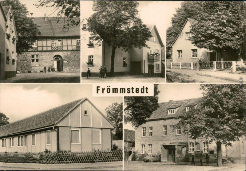 Frömmstedt Zentrale-Schule, Schulplatz, Anlage hinter der Schule 1974