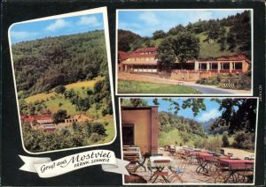 Egloffstein Gasthof Schlossblick mit Panorama und Gästebereich 1966
